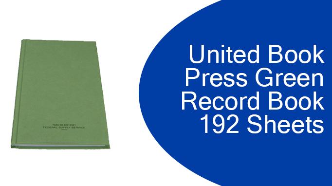 United Book Press Green Record Book